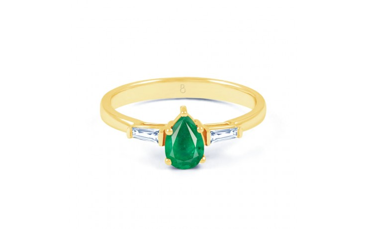 Emerald Pear Gold Ring product image 1