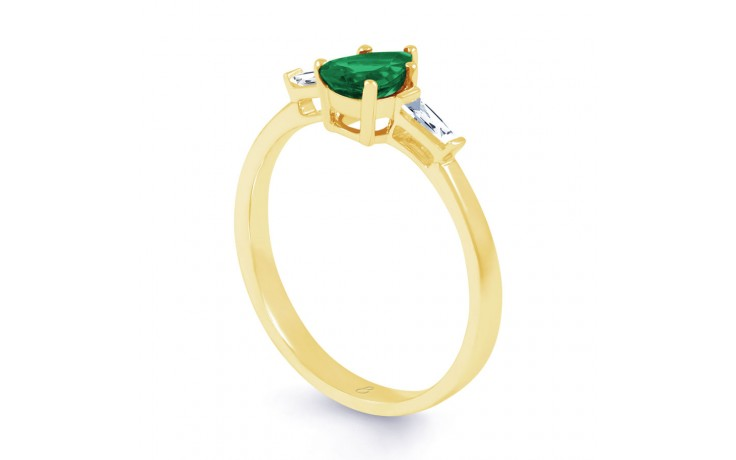 Emerald Pear Gold Ring product image 2