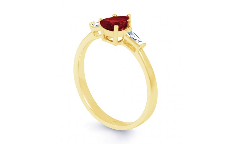 Ruby Pear Gold Ring product image 2