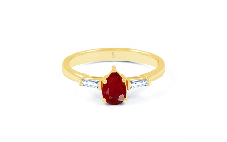 Ruby Pear Gold Ring product image 1
