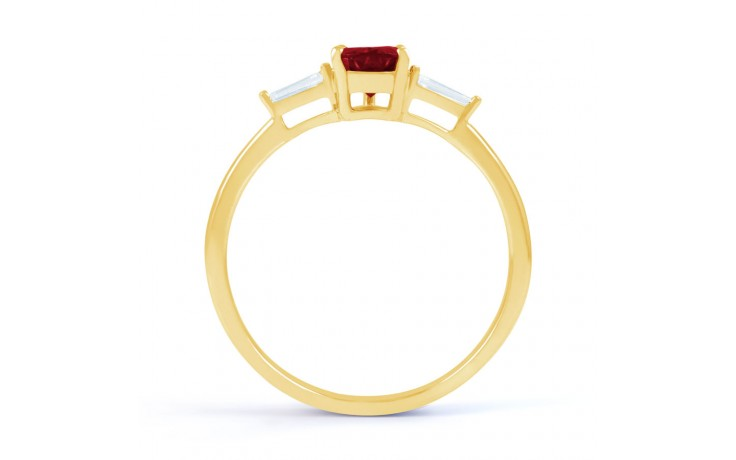 Ruby Pear Gold Ring product image 3