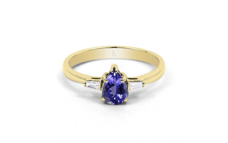 Tanzanite Pear Gold Ring product image 1