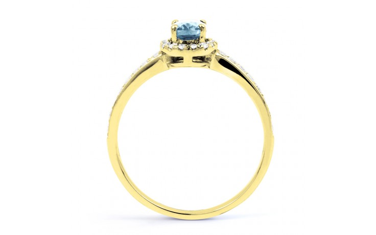 Allure Aquamarine Ring In Yellow Gold product image 3