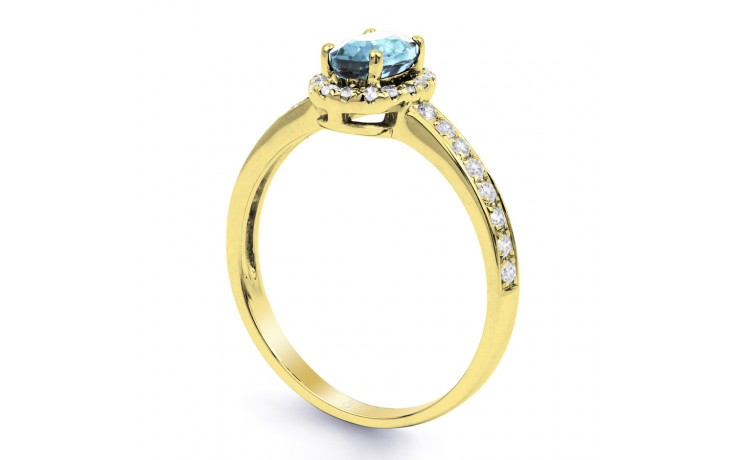 Allure Aquamarine Ring In Yellow Gold product image 2