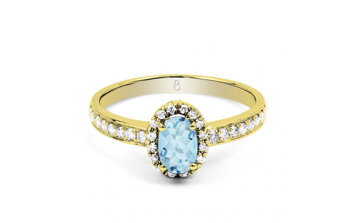 Allure Aquamarine Ring In Yellow Gold product image 1