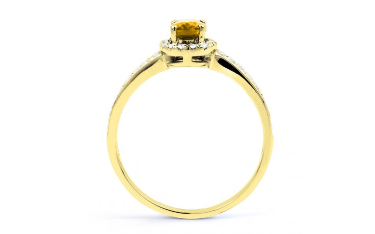 Allure Citrine Ring In Yellow Gold product image 3