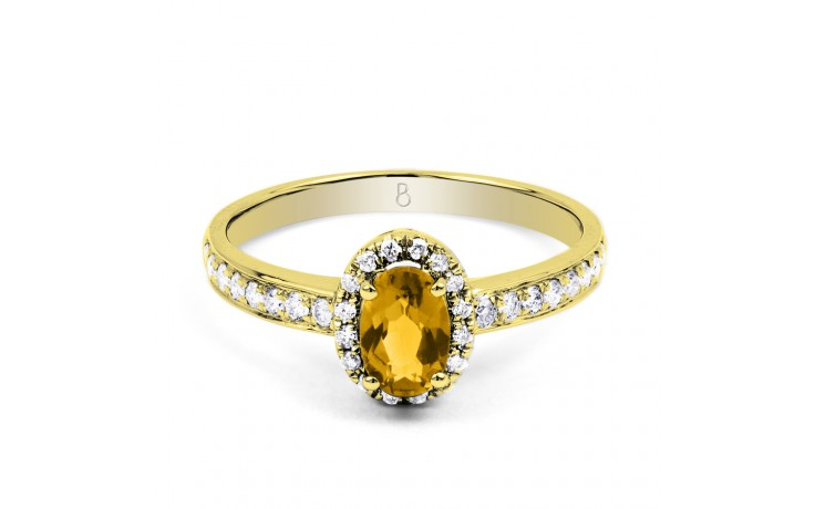 Allure Citrine Ring In Yellow Gold product image 1