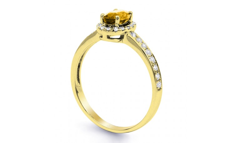 Allure Citrine Ring In Yellow Gold product image 2