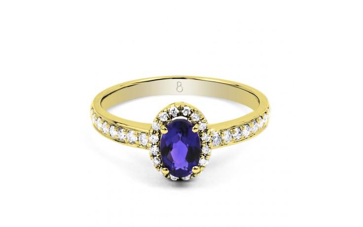 Tanzanite Halo Gold Ring  product image 1