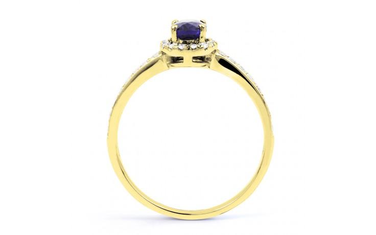 Tanzanite Halo Gold Ring  product image 3