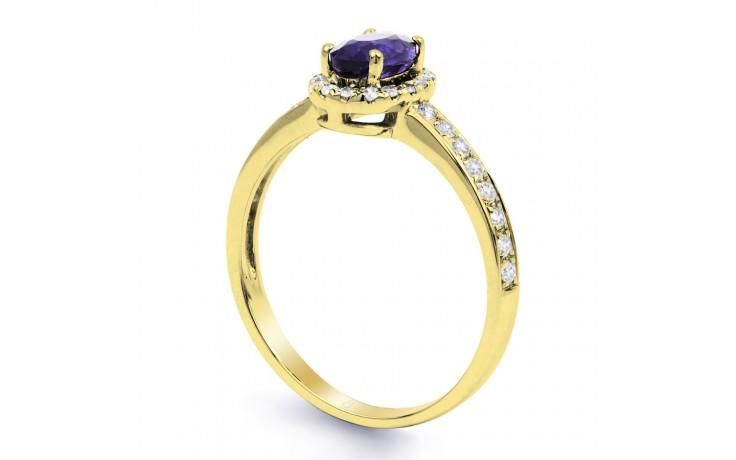 Tanzanite Halo Gold Ring  product image 2