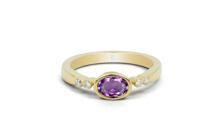 Vintage Amethyst Birthstone Gold Ring product image 1