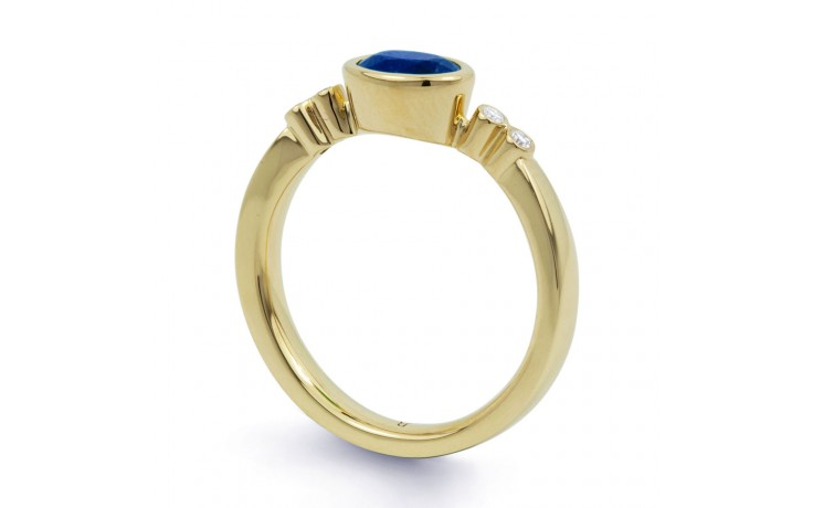 Blue Sapphire Gold Birthstone Ring product image 2