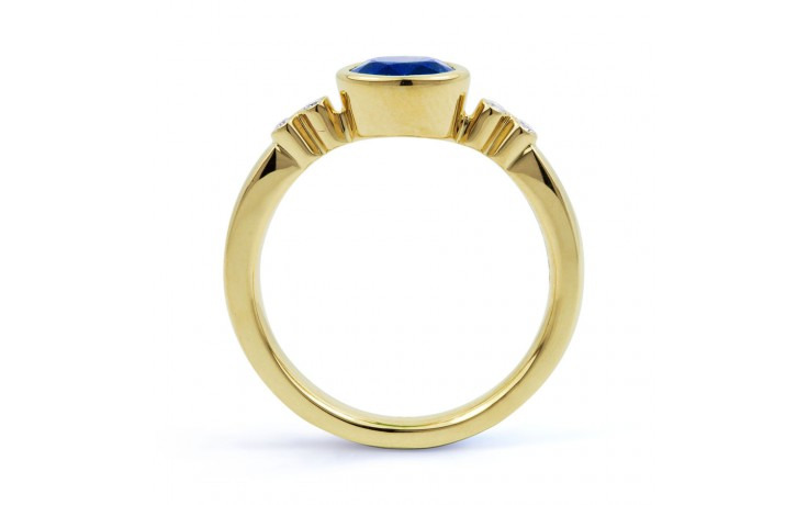 Blue Sapphire Gold Birthstone Ring product image 3