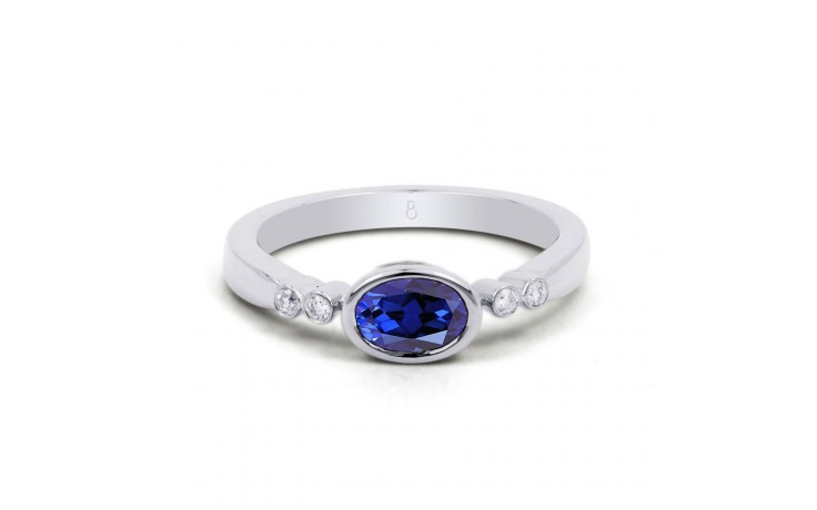 Blue Sapphire Gold Birthstone Ring product image 1