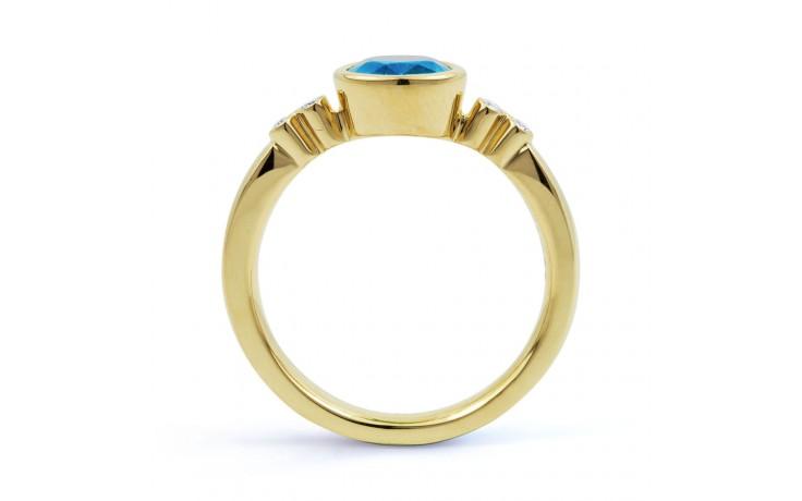 Blue Topaz Gemstone Gold Ring product image 3
