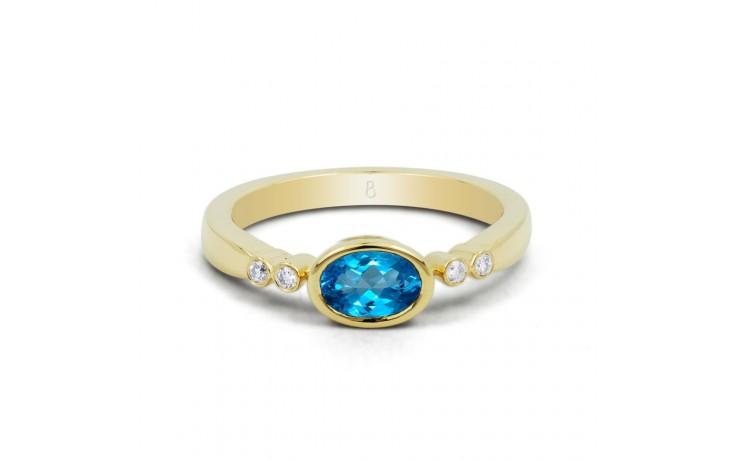 Blue Topaz Gemstone Gold Ring product image 1