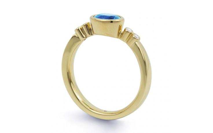 Blue Topaz Gemstone Gold Ring product image 2