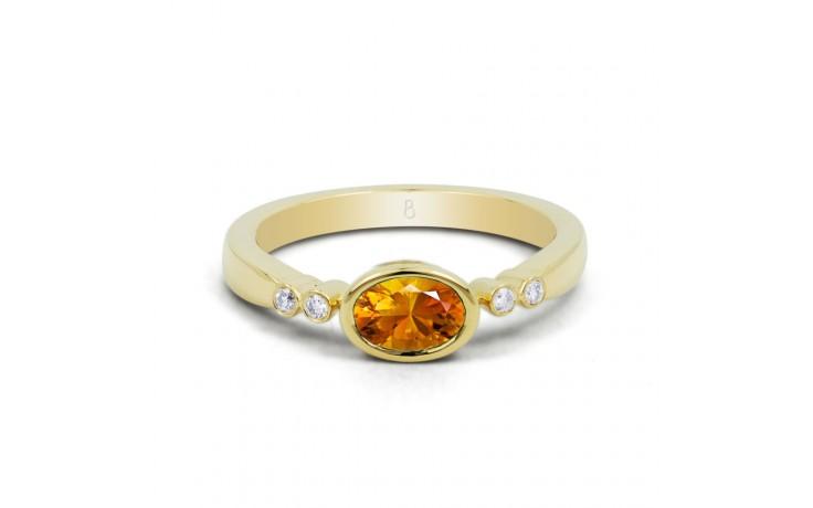 Citrine Vintage Birthstone Gold Ring product image 1