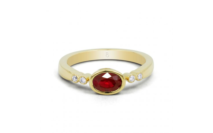 Birthstone Ruby Gold Ring product image 1