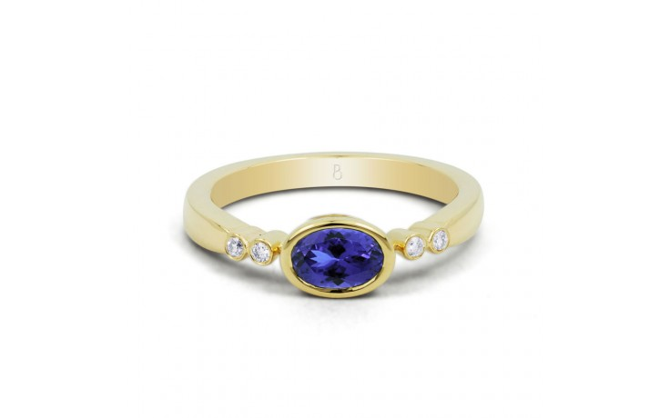 Tanzanite Birthstone Gold Ring product image 1