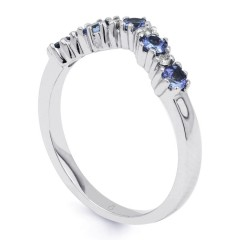 Kei 9ct White Gold Tanzanite Wishbone Ring image 1