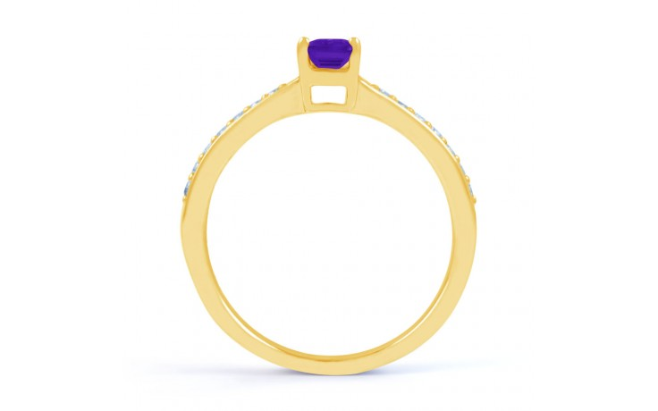 Vintage Amethyst Gold Engagement Ring product image 3