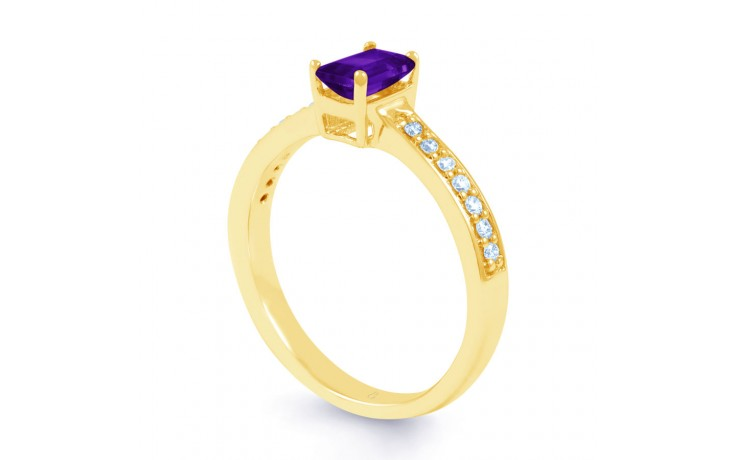 Vintage Amethyst Gold Engagement Ring product image 2