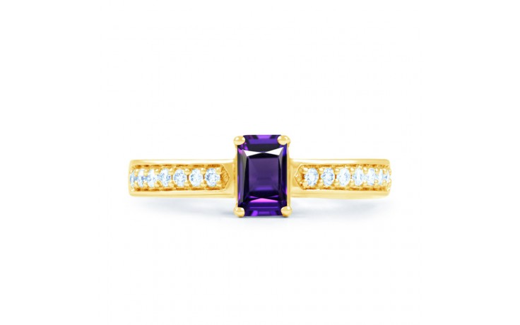 Vintage Amethyst Gold Engagement Ring product image 1