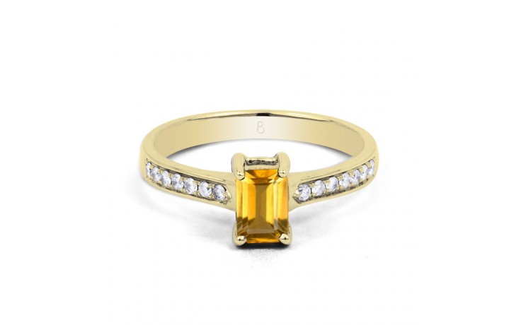 Vintage Citrine Yellow Gold Ring product image 1
