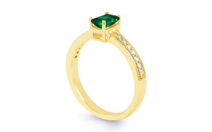 Emerald Octagon Gold Ring product image 2