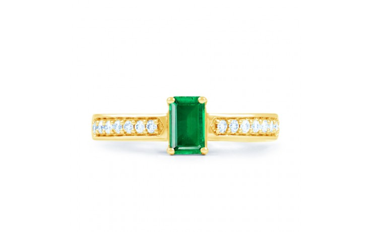 Emerald Octagon Gold Ring product image 1