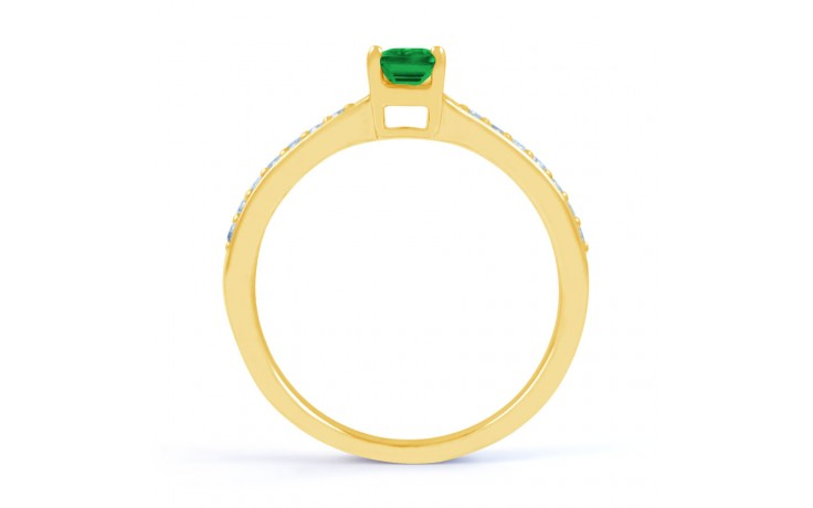 Emerald Octagon Gold Ring product image 3