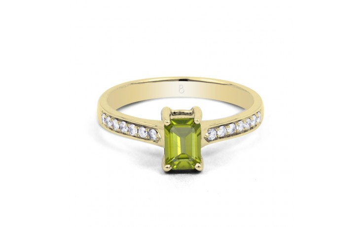 Vintage Peridot & Diamond Gold Ring product image 1