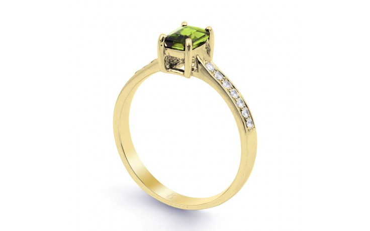 Vintage Peridot & Diamond Gold Ring product image 2