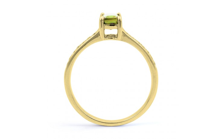 Vintage Peridot & Diamond Gold Ring product image 3