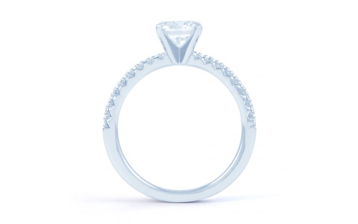 Eleonore Pave Diamond Engagement Ring in White Gold product image 3