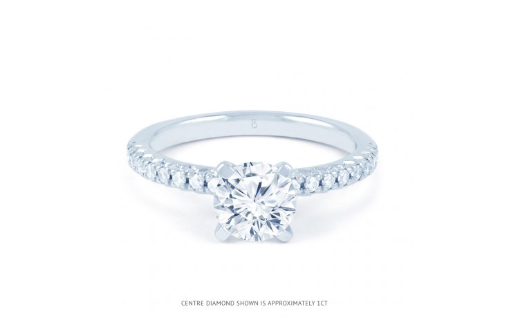 Eleonore Pave Diamond Engagement Ring in White Gold product image 1