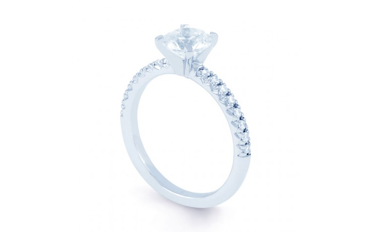 Eleonore Pave Diamond Engagement Ring in White Gold product image 2