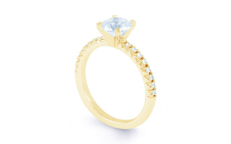 Eleonore Pave in Yellow Gold product image 2