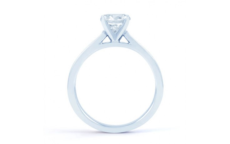Eleonore Channel Diamond Engagement Ring in White Gold product image 3