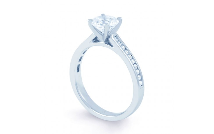 Eleonore Channel Diamond Engagement Ring in White Gold product image 2
