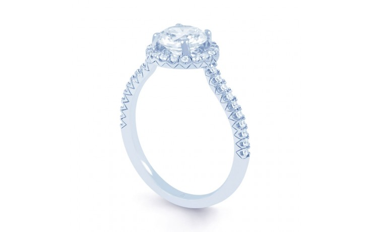 Renee Halo Diamond Engagement Ring in White Gold product image 2