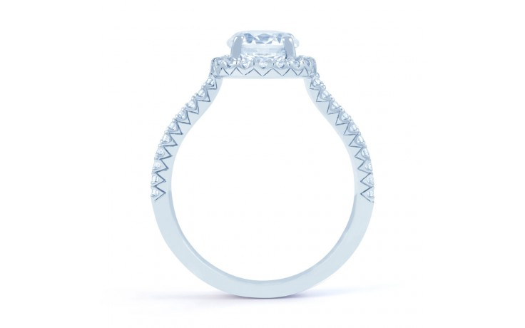 Renee Halo Diamond Engagement Ring in White Gold product image 3