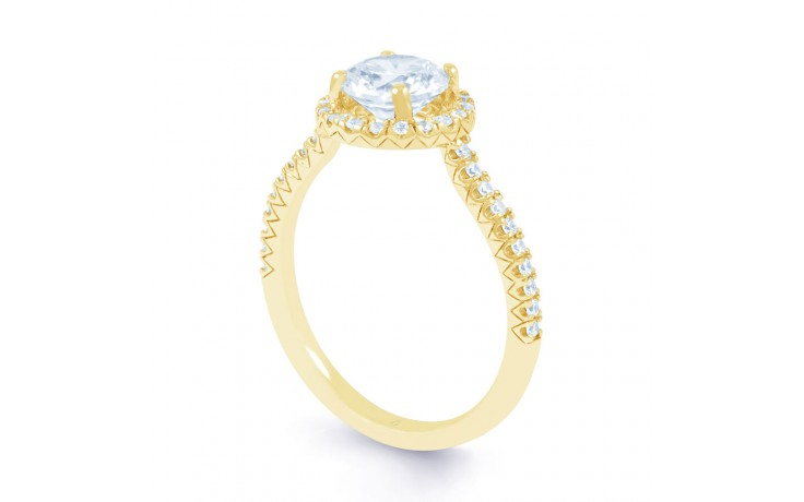 Renee Halo in Yellow Gold product image 2