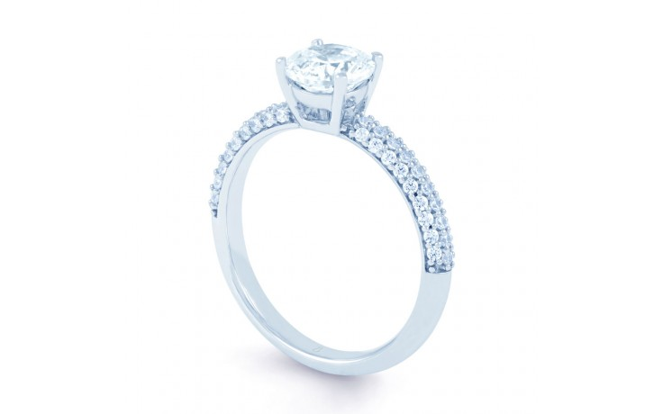 Alia Cluster Diamond Engagement Ring in White Gold  product image 2