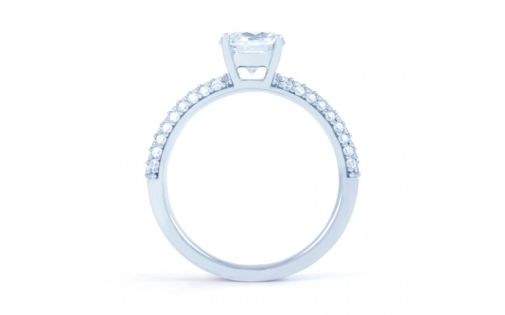 Alia Cluster Diamond Engagement Ring in White Gold  product image 3