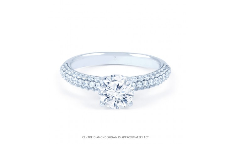 Alia Cluster Diamond Engagement Ring in White Gold  product image 1