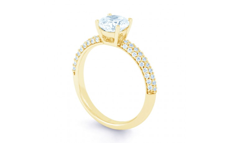 Alia Cluster Diamond Engagement Ring in Yellow Gold  product image 2