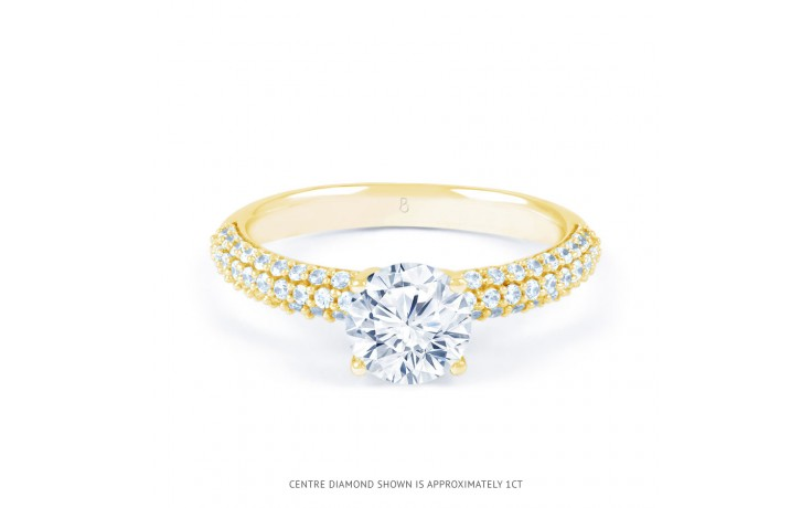 Alia Cluster Diamond Engagement Ring in Yellow Gold  product image 1